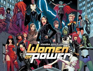 WOMEN OF POWER STANDEE PUNCH OUT BOOK TP