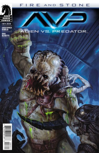 ALIEN VS PREDATOR FIRE AND STONE #3 (OF 4)