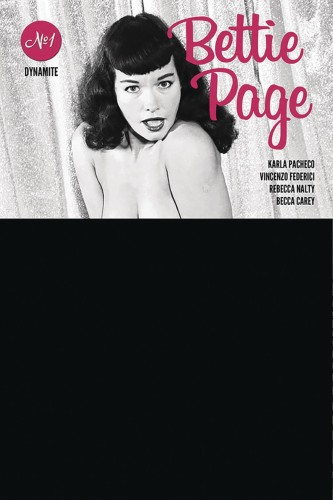 BETTIE PAGE #1 BLACK BAG PHOTO CVR