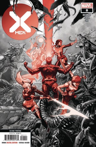 X-MEN #8 2ND PTG VAR DX