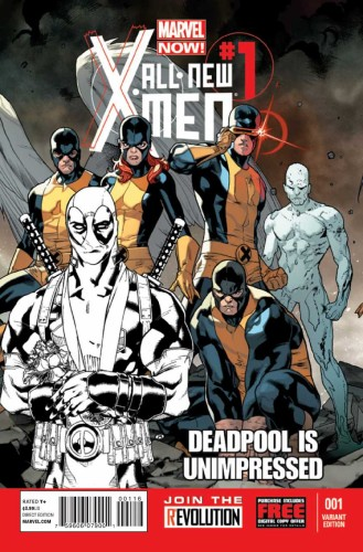 ALL NEW X-MEN #1 IMMONEN SKETCH DEADPOOL IS UNIMPRESSED VARIANT