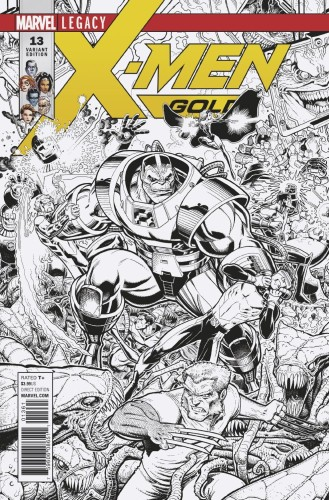 X-MEN GOLD #13 A ADAMS B&W CONNECTING VAR A LEG