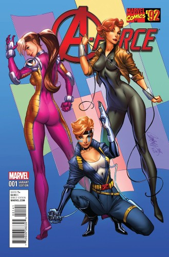 A-FORCE #1 CAMPBELL MARVEL 92 VAR