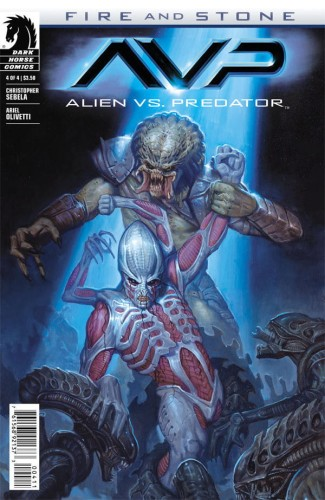 ALIEN VS PREDATOR FIRE AND STONE #4 (OF 4)